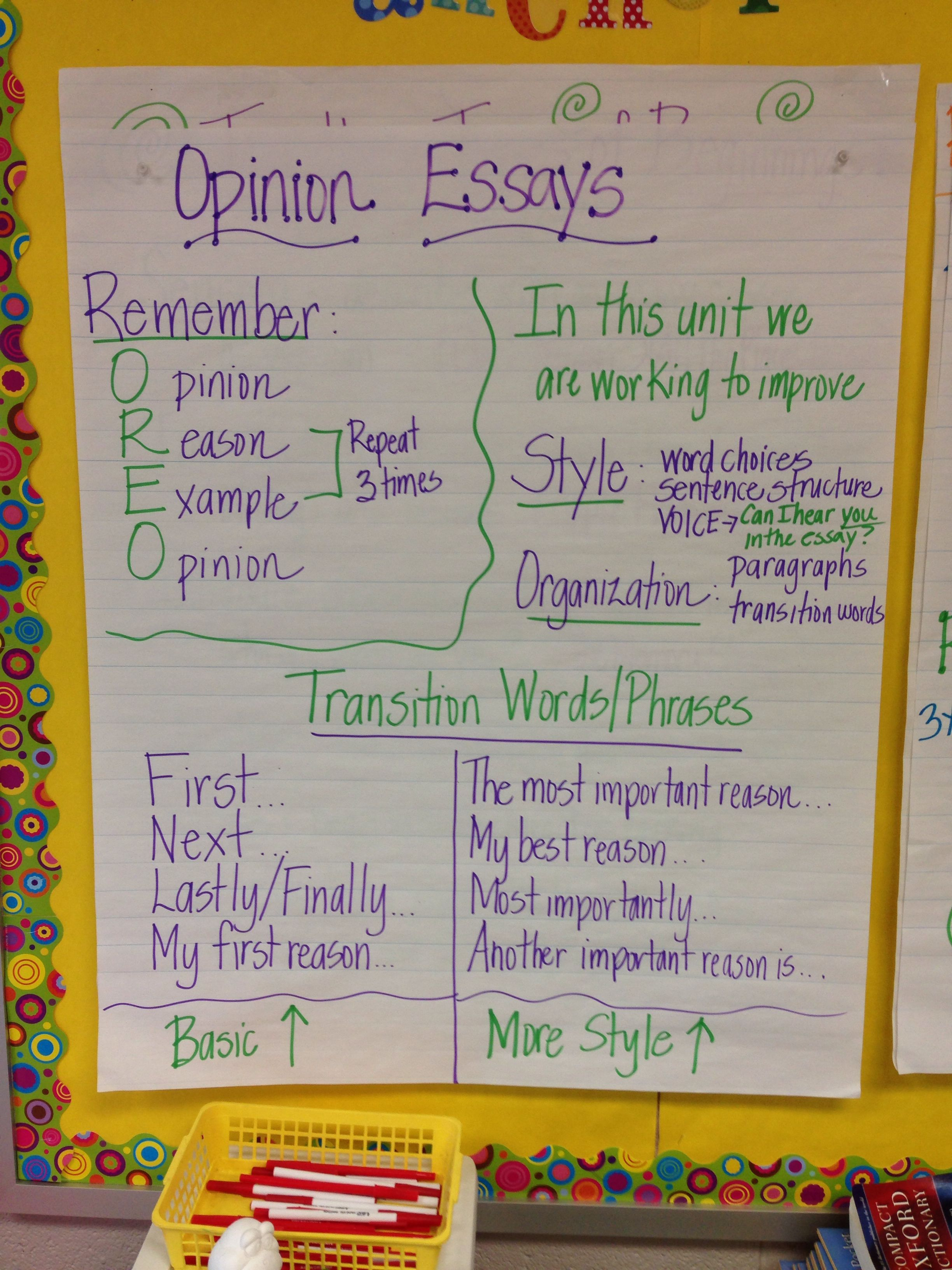Opinion Anchor Chart Basics