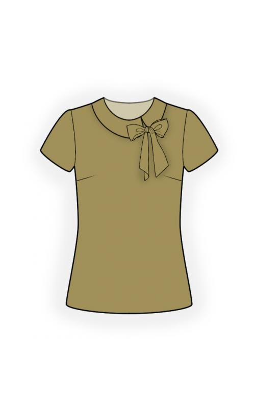 Blouse With Bow Sewing Pattern 4452 Made To Measure Sewing