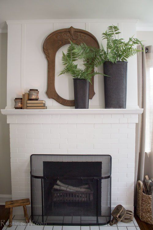 A Simple and Casual Summer Living Room | Living room with ... on Fireplace Casual Living id=44353
