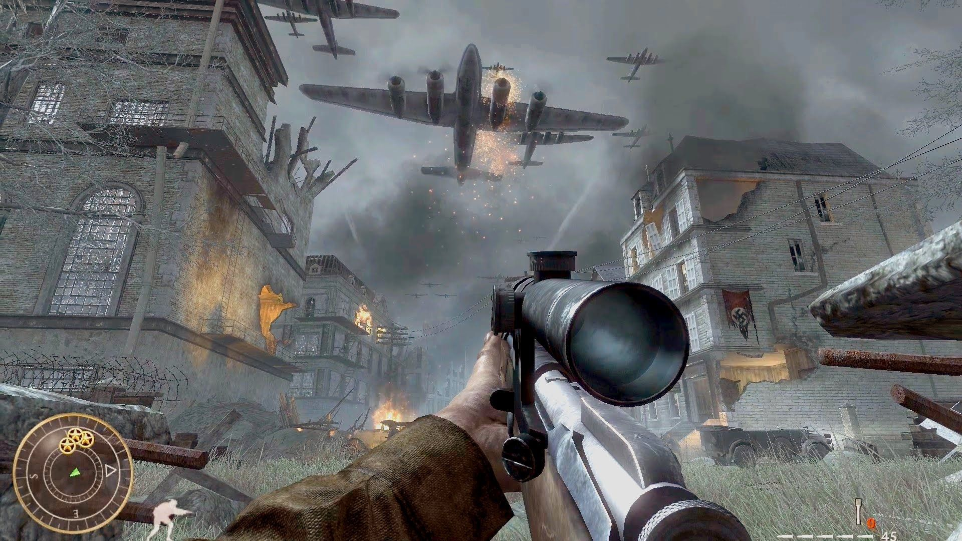 Call of Duty World at War - Vendetta Sniper Mission Gameplay ...