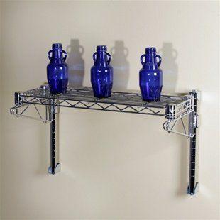 1 Shelf Chrome Wire Wall Mounted Kit-8\