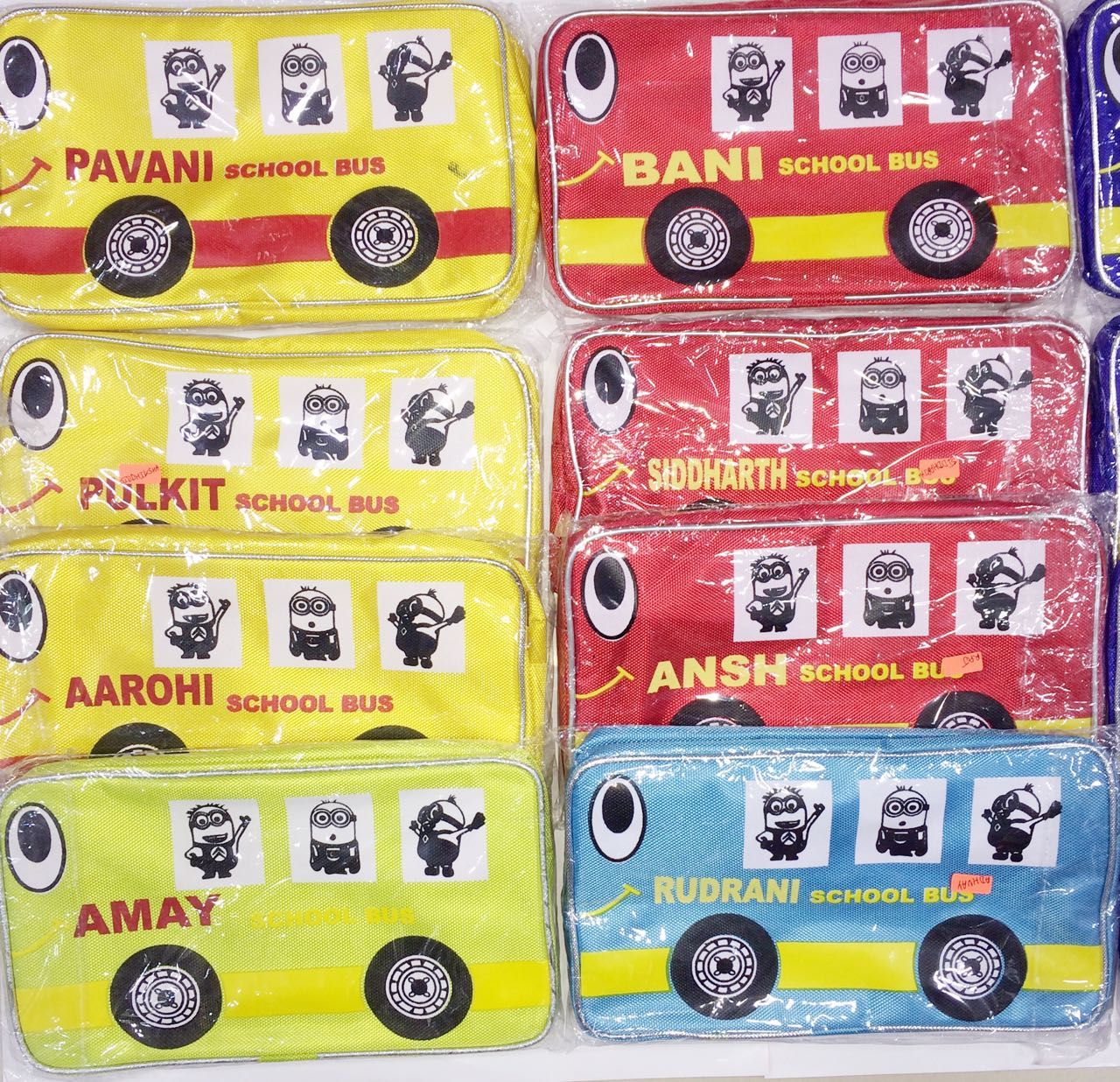 Personalised Bus Theme Sling Bags Rs200 Shop At J4kidsmumbai Return Gifts For Birthday Parties