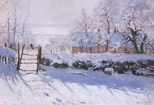 The Magpie - Claude Monet  1869