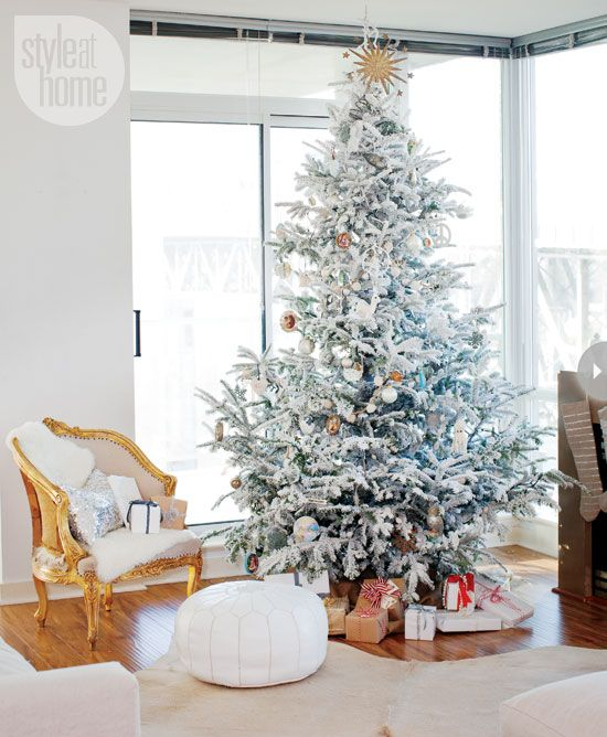 Interiors Style At Home Christmas Decorations Living Room White Christmas Tree Decorations Holiday Decor