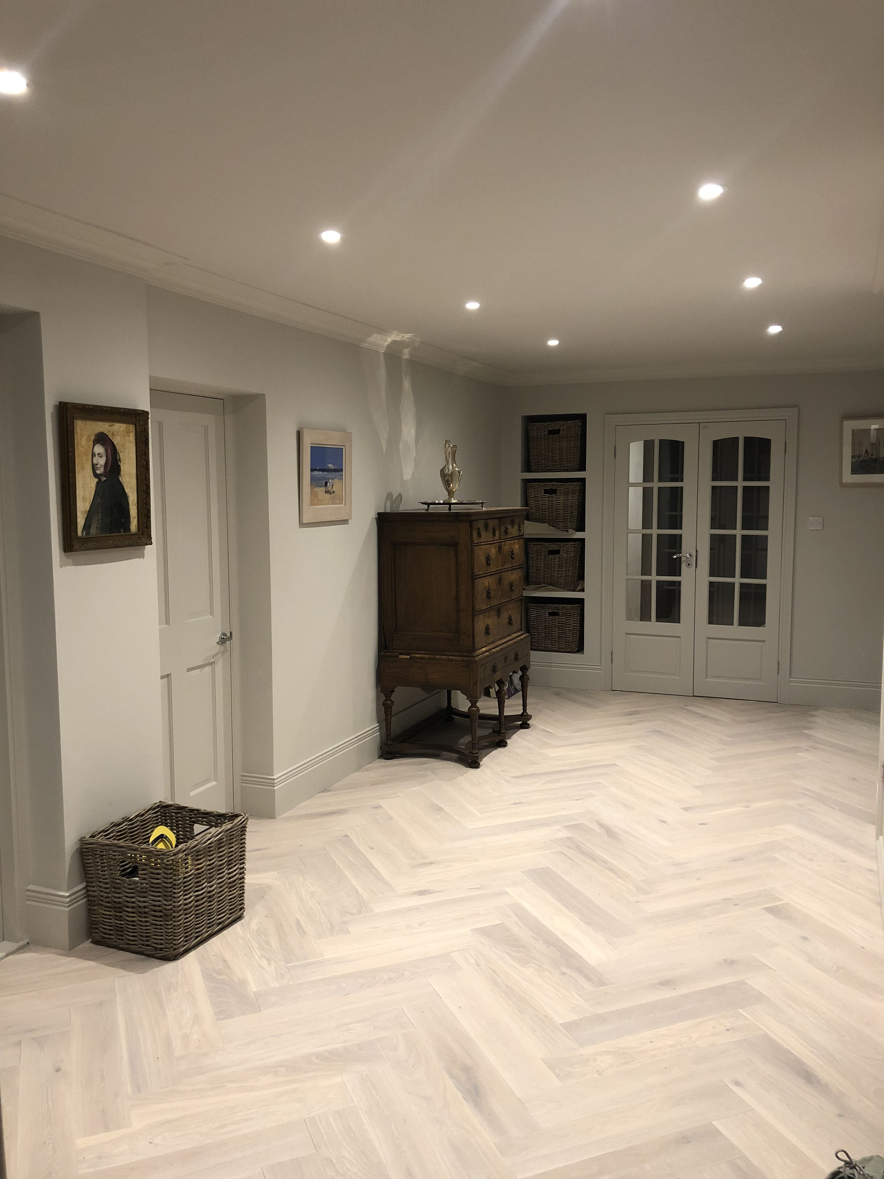 Really happy with my new wood herringbone hall floor