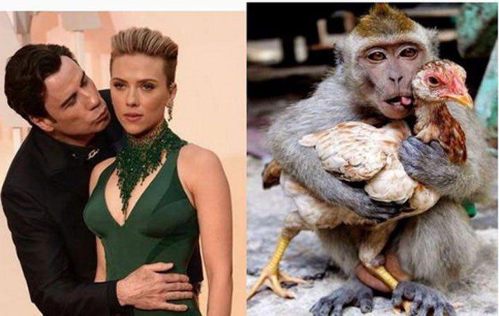 Oscars 2015 Most Touching John Travolta Memes From Sunday S Academy Awards John Travolta Scarlett Johansson Meme Scarlett Johansson