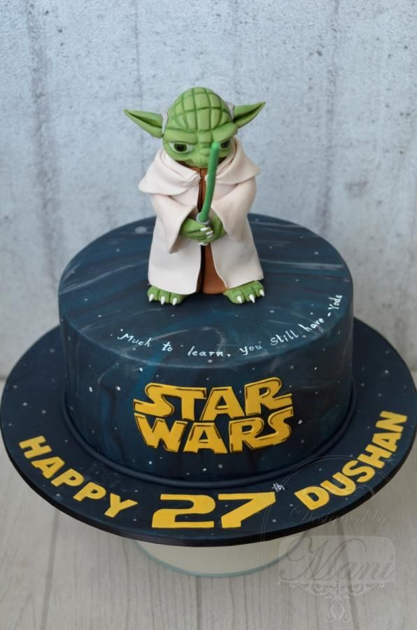 star wars yoda cake by designed by mani star wars pinterest g teau star wars decoration. Black Bedroom Furniture Sets. Home Design Ideas