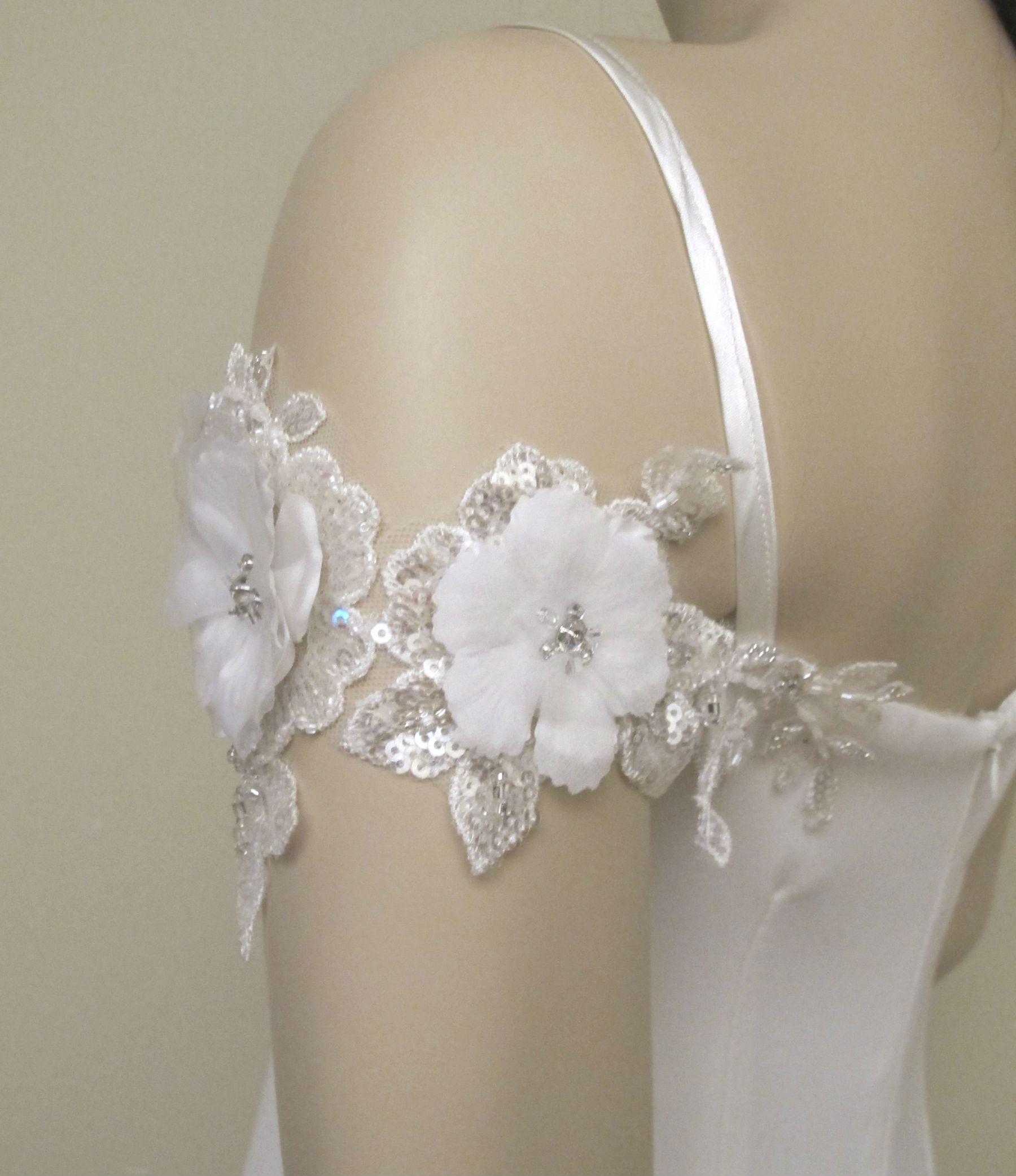 Detachable Off Shoulder Sleeves Wedding Dress Straps