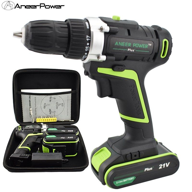 Aneerpower 21v Plus Hand Drill Batteries Power Tools Cordless Electric Drill Aneerpower Plus Hand Drill Batteries Power Drill Power Tools Electric Drill