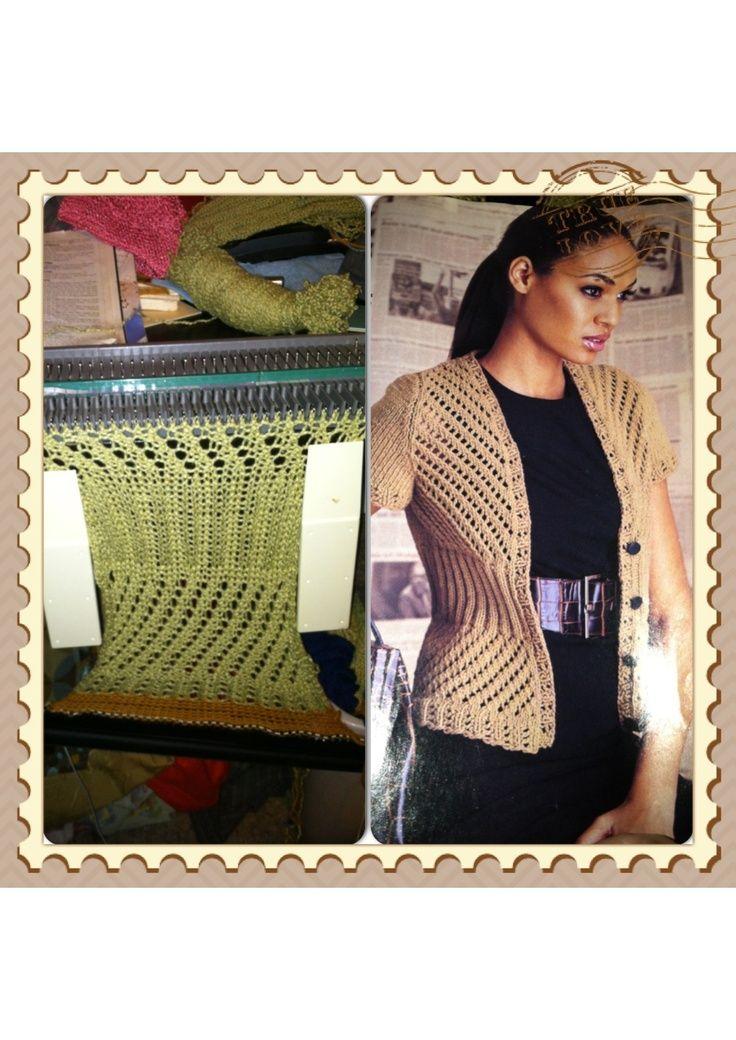 Hand Knit Pattern Translated To Knitting Machine Ultimate Sweater