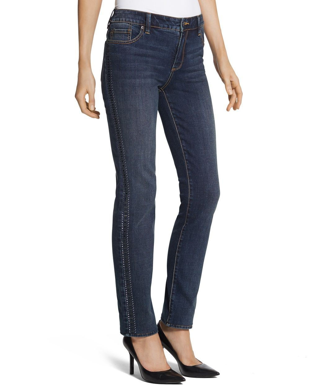 d954a6fcbc67 Chico s Women s So Slimming by Chico s Side Embellished Jeans ...
