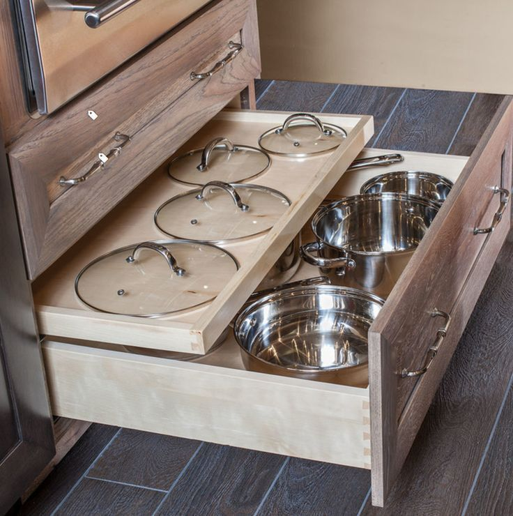 Photo of Pan drawer with pull-out lid – #DeckelAuszug #einrichtungsideen #with #Pfannenkrawade – home accessories