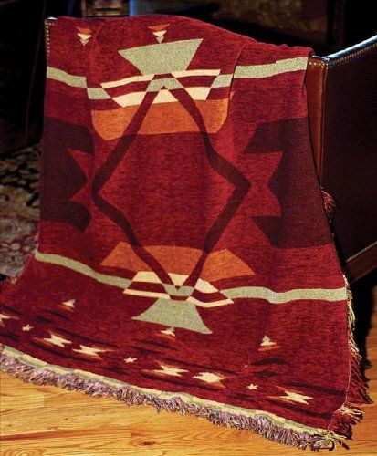 Southwestern Throw Blanket Fascinating Flame Southwestern Print Chenille Tapestry Throw Blanket 60 X 60 In