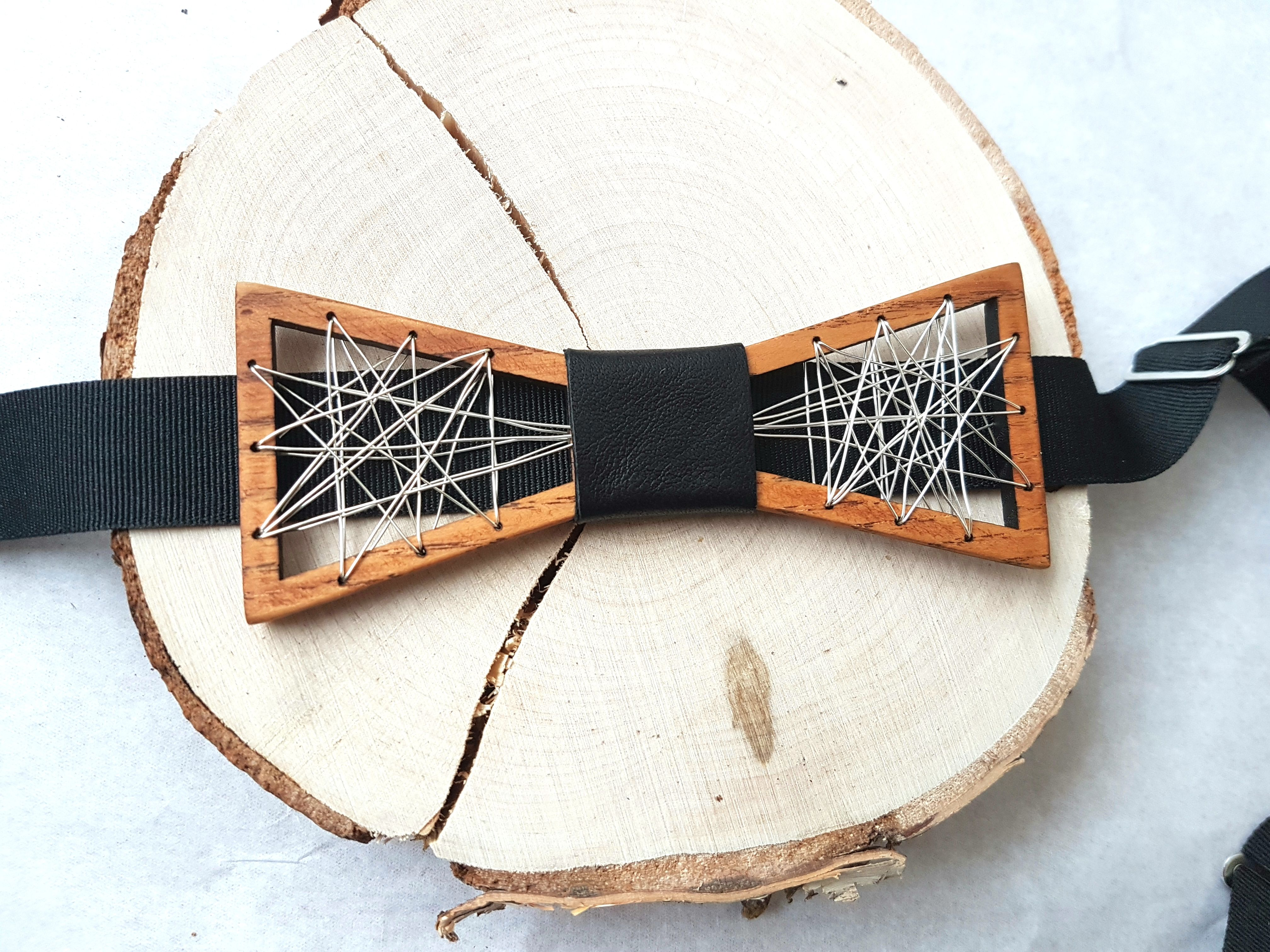 Custom Color Wooden Metal Bow Tie Wooden Bow Tie Metal Bow Tie