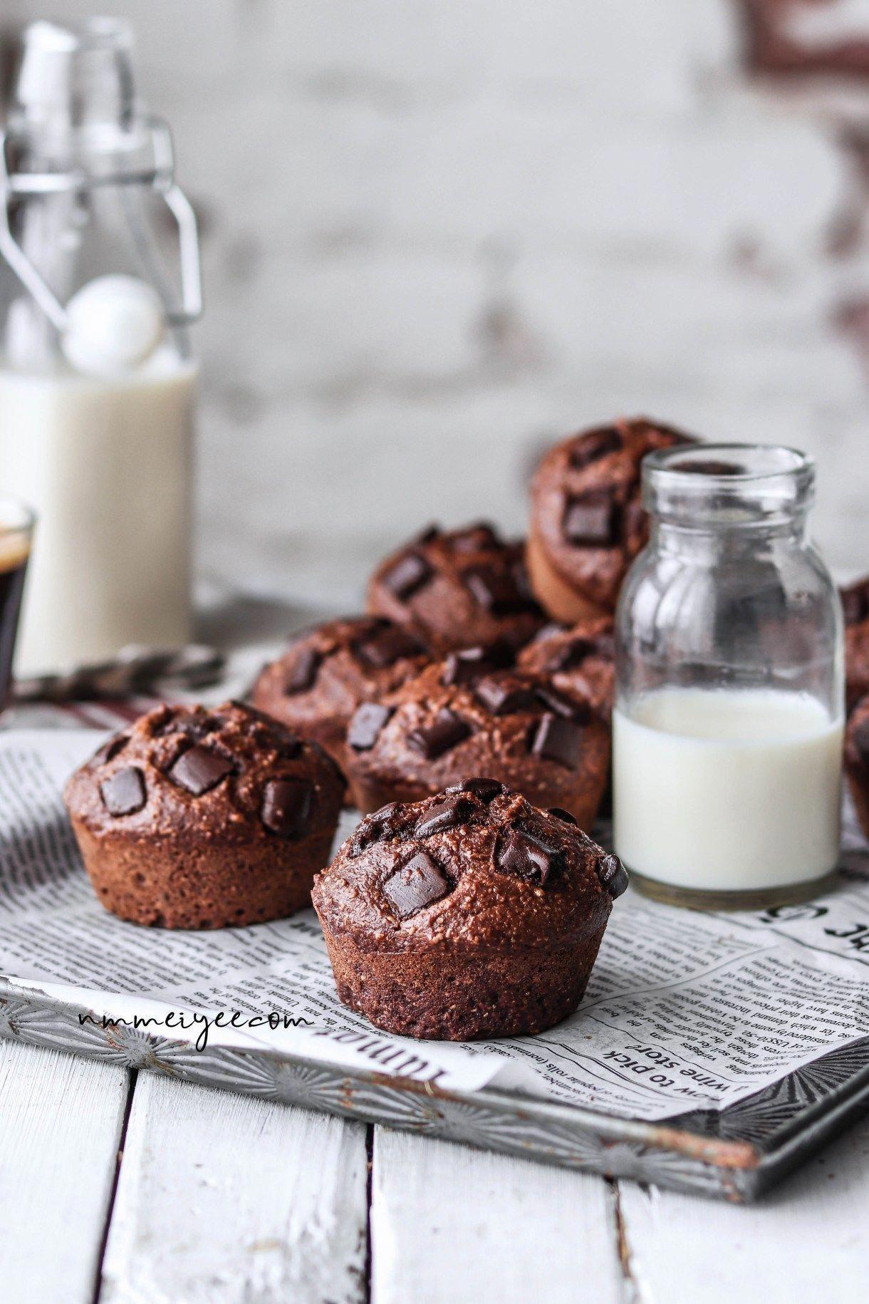 Chocolate Protein Muffins Vegan Refined Sugar Free