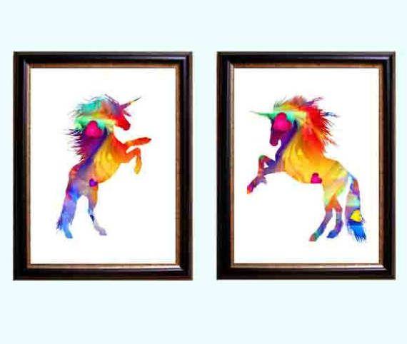 Unicorn print, unicorn art, unicorn poster, nursery Decor, girls room art, unicorn room Decor, girls nursery Decor, unicorn wall art