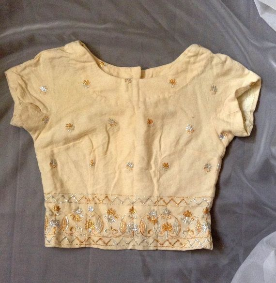 Golden Crop Top Small by RaccoonSlutVintage on Etsy, $15.00