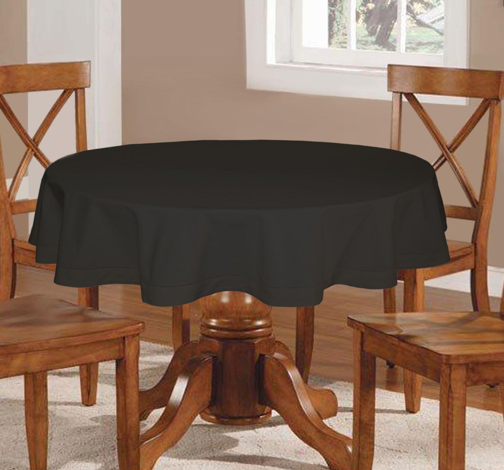 Plain Round Six Seater Table Cloth, Namaste Fashion