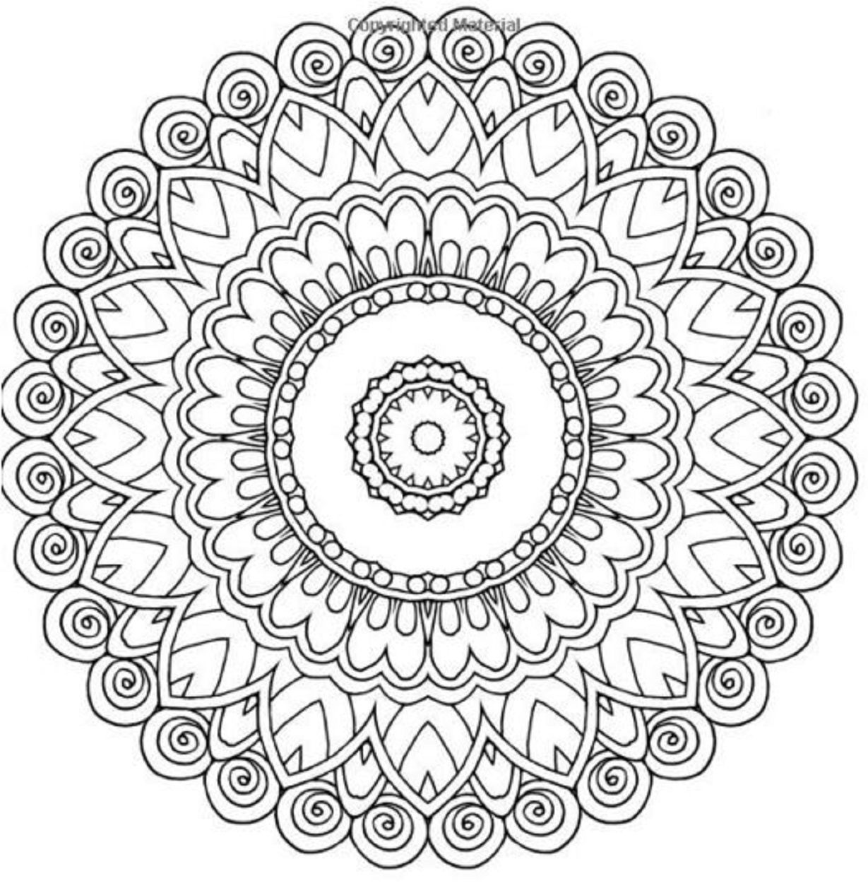 Stress relief coloring pages mandala - Adults Coloring Book Mandala Design Stress Relief Relax