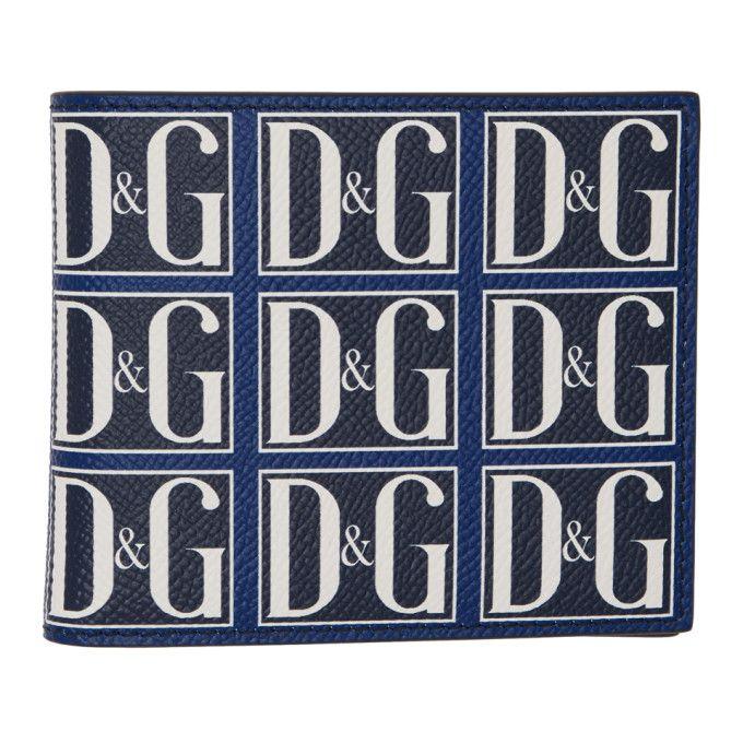 7b64a356 DOLCE & GABBANA DOLCE AND GABBANA NAVY AND BLUE DANDG WALLET. #dolcegabbana