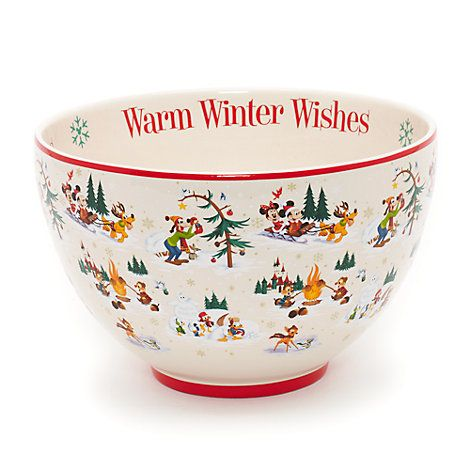 mickey mouse and friends christmas serving bowl walt disney world