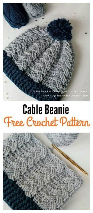 Cable Beanie Free Crochet Pattern by ashleyw | Crochet Queen ...