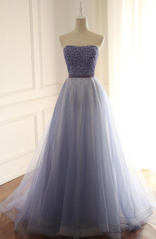 Halter Prom Dress,Party Dress,Long Evening Dress,Tulle Party Dresses