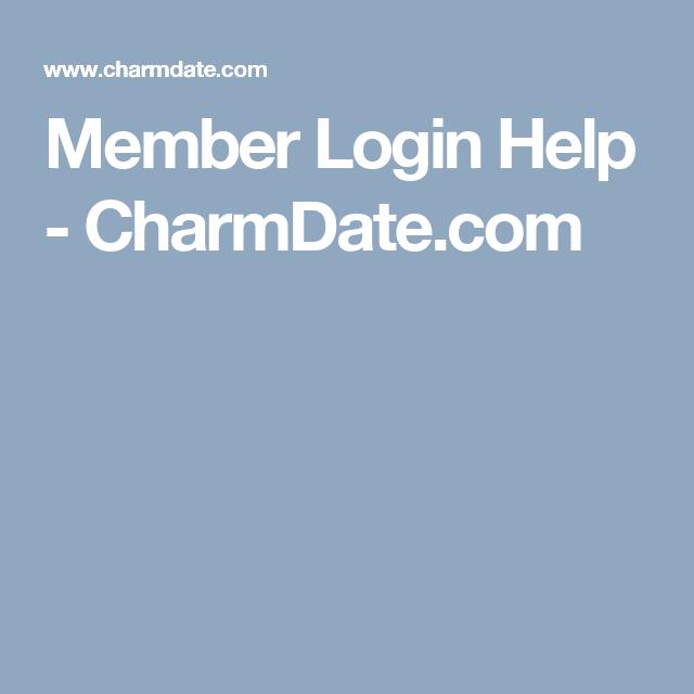 Charmingdate login help