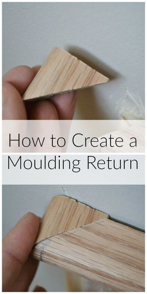 Finish moulding with a beautiful return - http://iamahomemaker.com