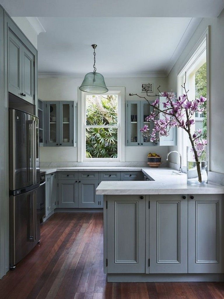 30 awesome blue kitchen design ideas modern farmhouse kitchens kitchen design small kitchen on farmhouse kitchen small id=27362