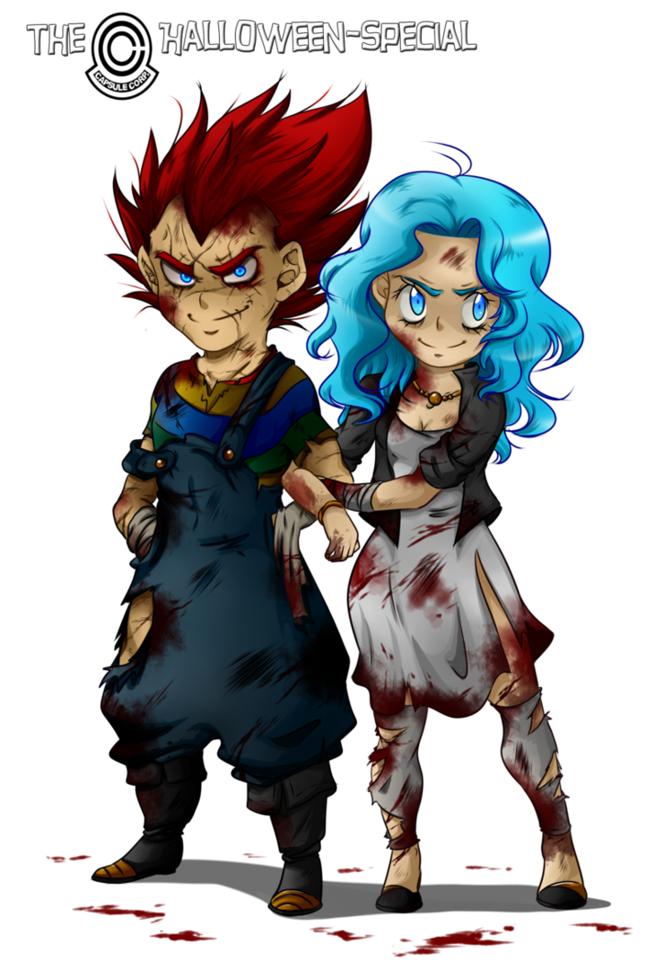 dbz vegebul halloween special costume four chucky and his bride