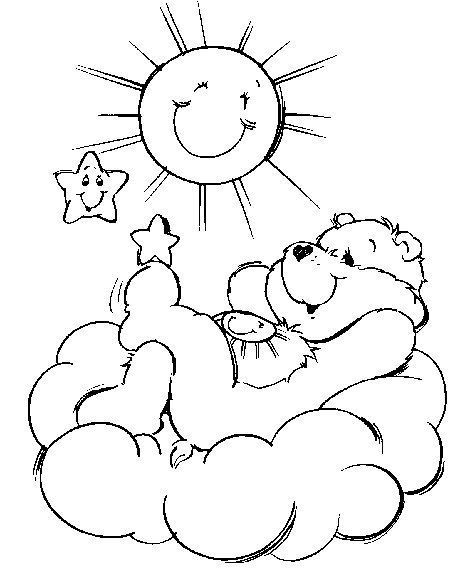 Funshine Bear Coloring Page This Beautiful From CARE BEARS Pages Is Perfect For Kids Who Will Appreciate It