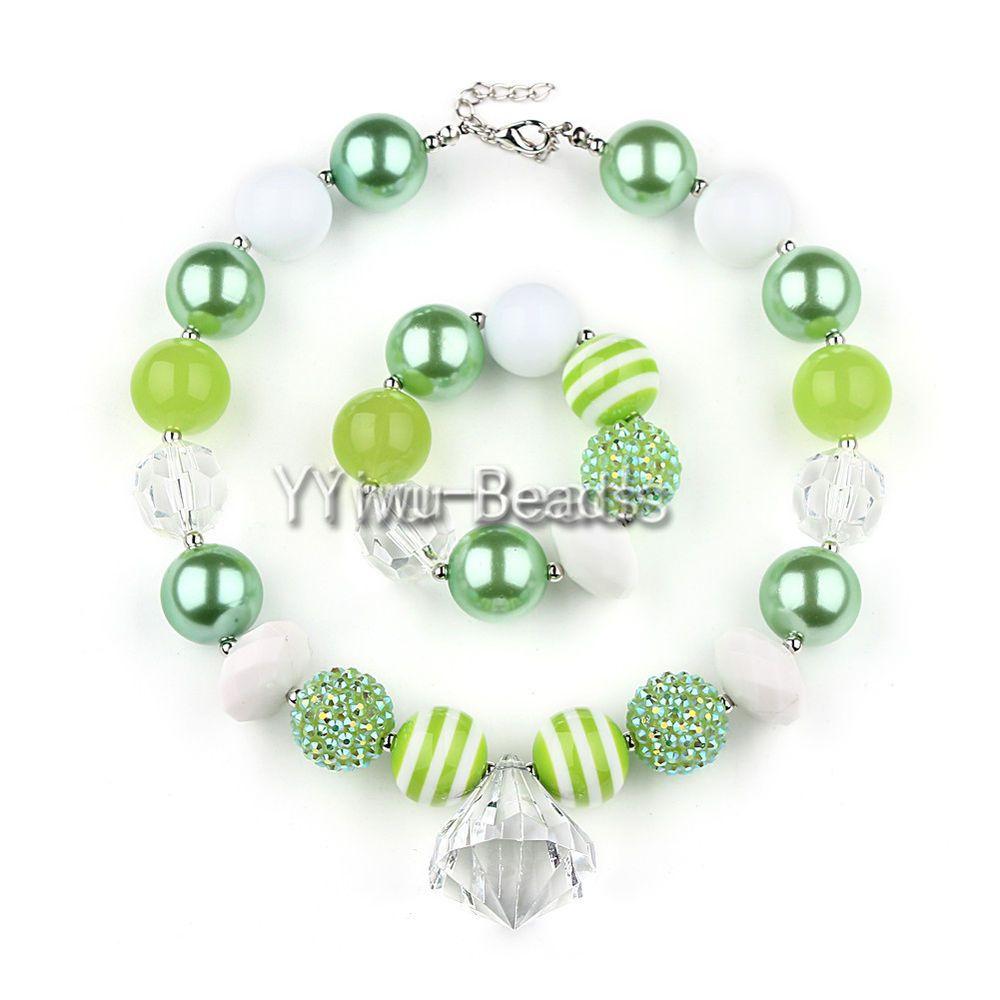 Chunky gumball bubblegum beads necklace bracelet jewelry girls