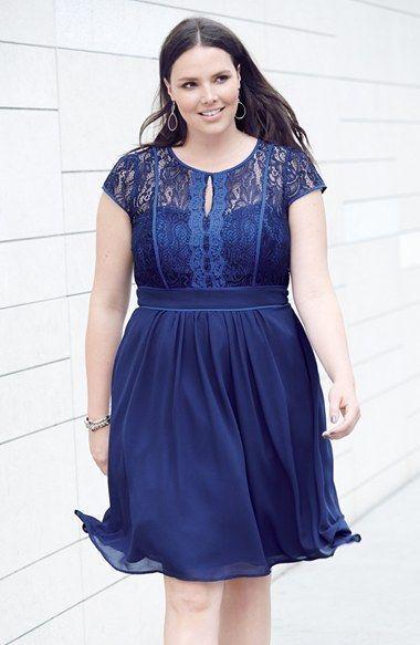 Plus Size Fit Flare Dress Plus Size Fashion Pinterest Fit
