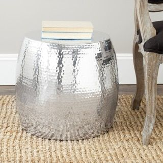 Safavieh Tantlum Silver Stool | Overstock.com Shopping   The Best Deals On  Coffee, · Sofa End TablesRound ...