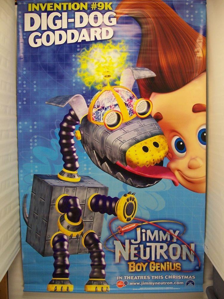 JIMMY NEUTRON : BOY GENIUS - Original Movie Banner - 2001 DS C9 (4 ...
