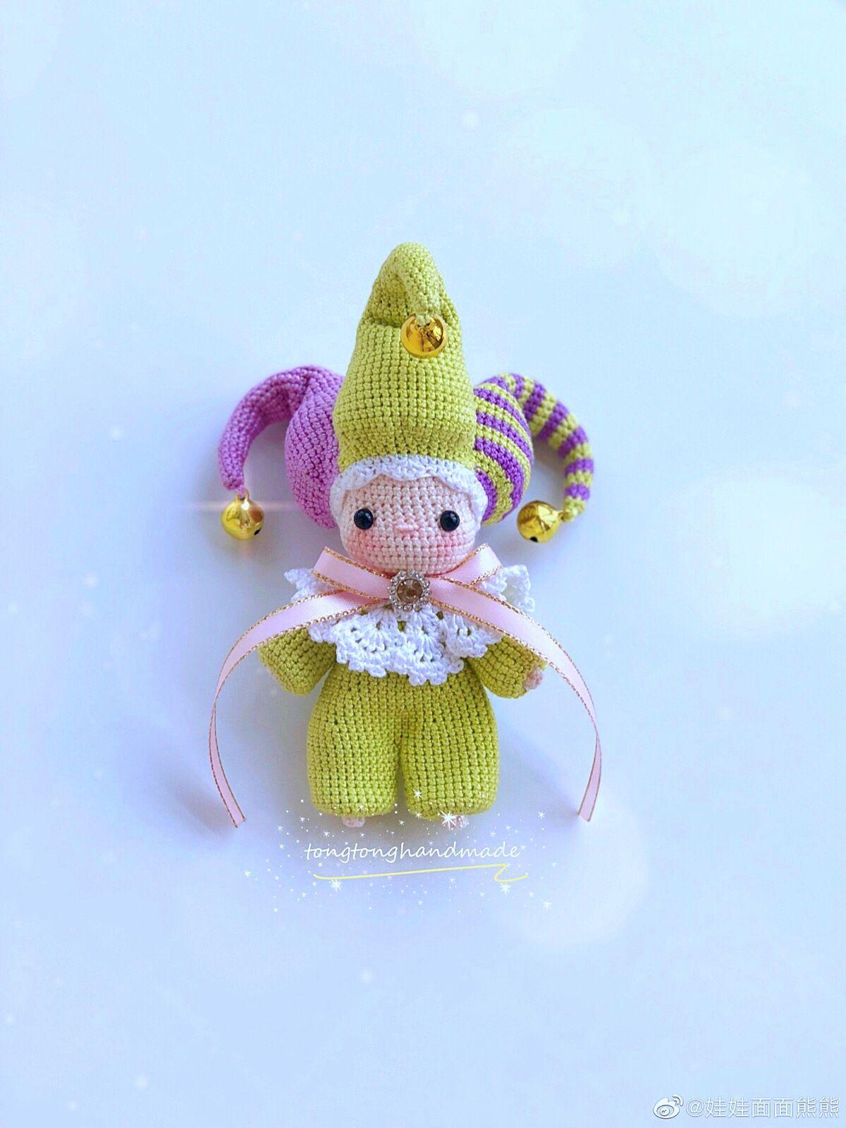 Weibo crochet activity @ 小糯米. Another pose | Boneca de crochet ... | 1600x1200