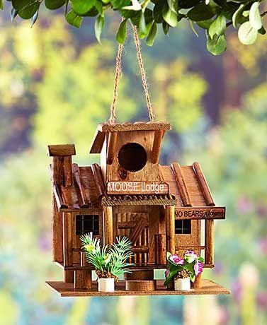 MOOSE BIRDHOUSE GARDEN LODGE DECOR BIRD HOUSES MAJESTIC MOOSE BIRD HOUSE