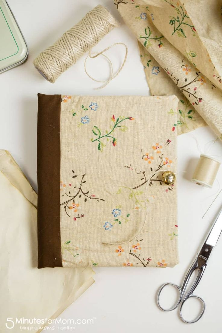 How To Make A DIY Journal With Tea Stained Paper