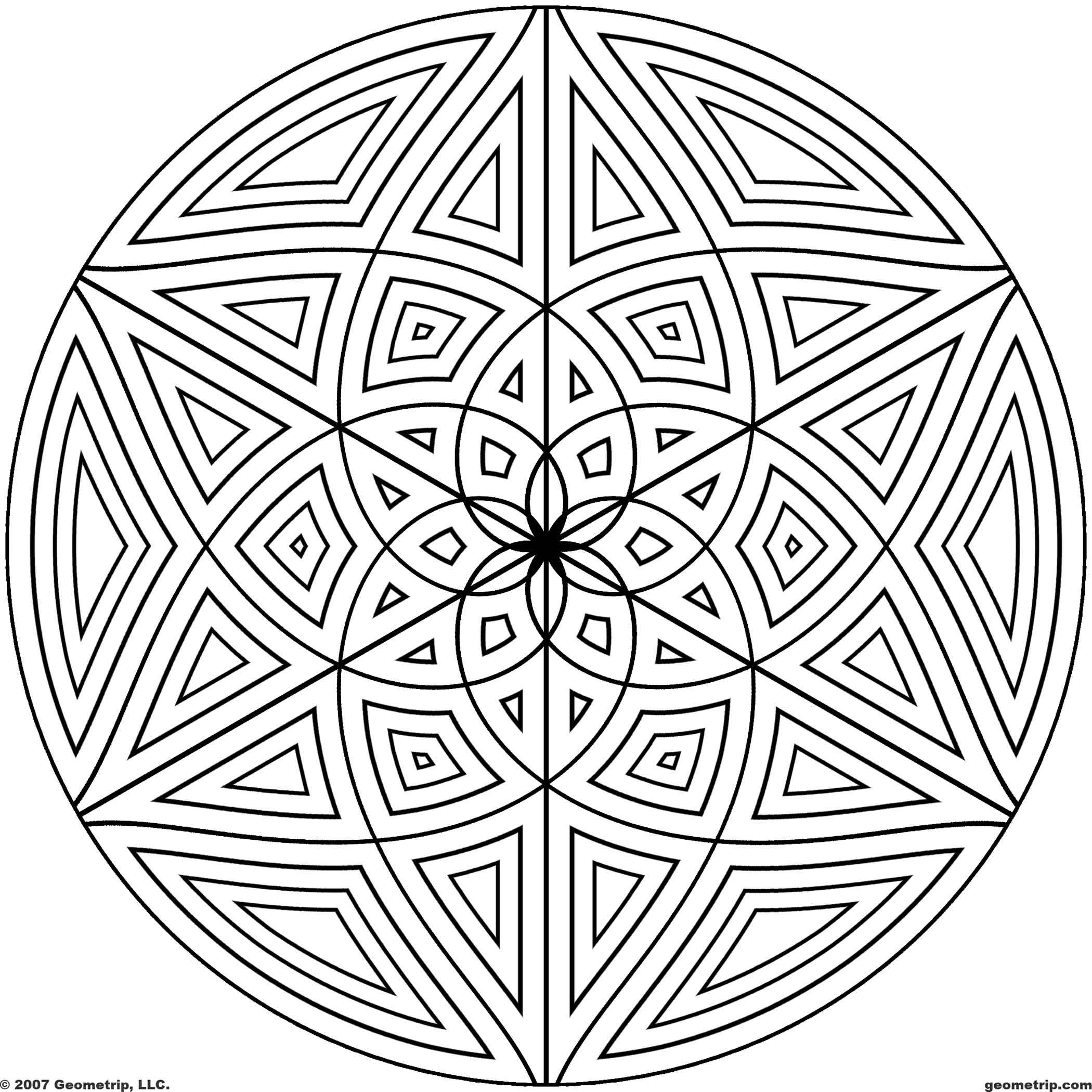 Printable coloring pages geometric patterns - Geometric Patterns