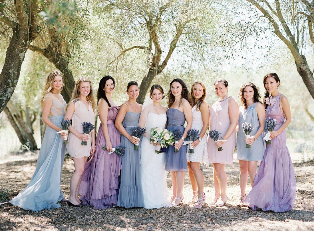 Elegant outdoor wedding in kenwood california wedding lavender bridesmaid ombrellifo Choice Image