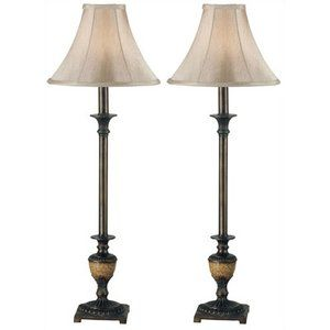 Kenroy Home Emily Buffet Lamps In Crackle Bronze Set Of Two 1