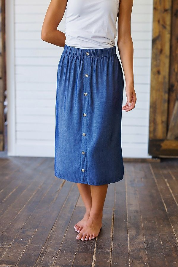 Our Collecting Moments Button Front Denim Skirt is the perfect skirt for every occasion! This skirt is so versatile, pair it with just about any shirt or