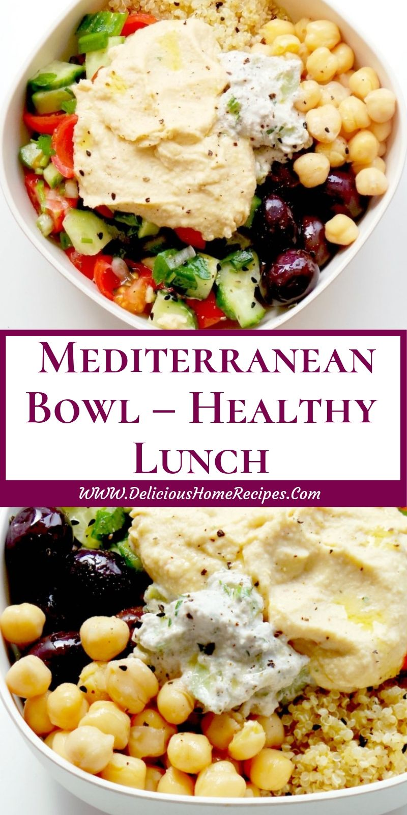 Mediterranean Bowl – Healthy Lunch images