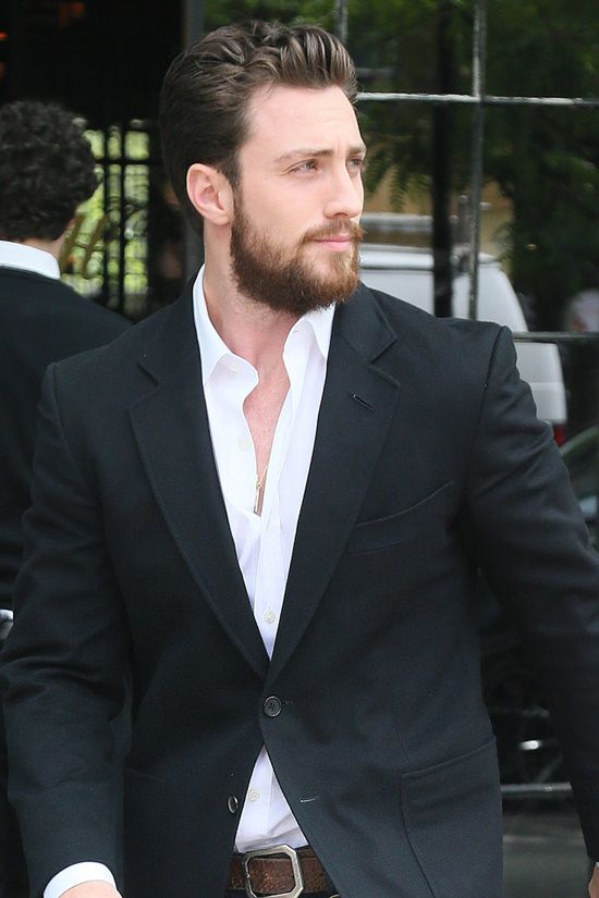 """Aaron Taylor-Johnson Struts as He Heads to His """"Build ..."""