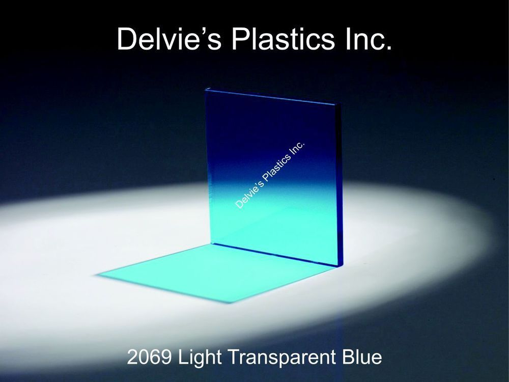 5 Sheets 1 4 2069 Transparent Blue Cell Cast Acrylic Sheet 12 X 24 Cast Acrylic Sheet Acrylic Sheets Cast Acrylic