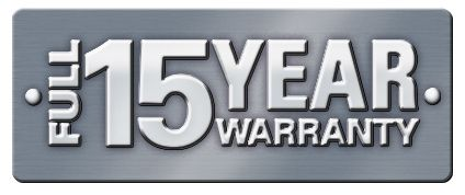15 Year Warranty Plus A 10 Year Insurance Backed Warranty Only