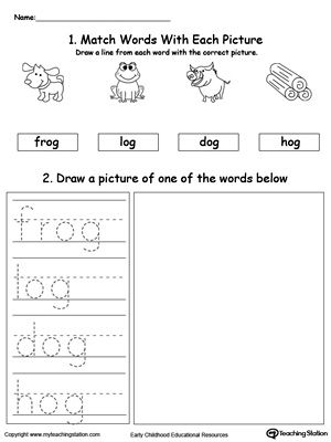 OG Word Family Phonics and Writing Practice | Pinterest