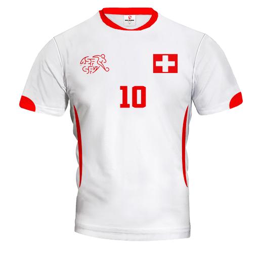 SCHWEIZ 2014/15 Fußball - Auswärtstrikot mit Wunschnamen und Wunschnummer