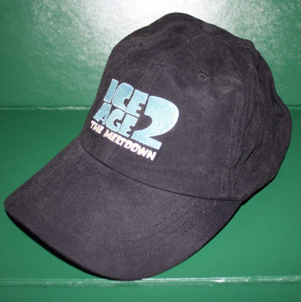 05e5626b554 Ice Age 2 The Meltdown Hat Baseball Cap Black Promotional Cast   Crew Acorn